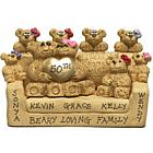 50th Anniversary Gold Heart Couple & Family Bears in Love Seat