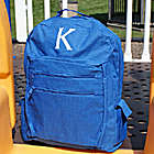 Embroidered Initial Backpack