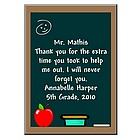 Thank You Teacher Easel Back Plaque
