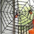 Giant Spider Web with Sparkly Spiders