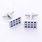 Square Cufflinks with Personalized Case