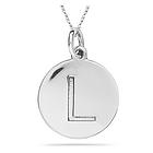 Alphabet L 14K White Gold Pendant