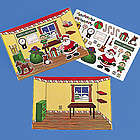 Make-A-Santa's Workshop Sticker Sheets