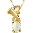 Opal Pendant in 14K Yellow Gold