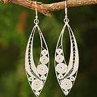 Tendrils Sterling Silver Filigree Earrings