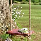 Rope Tree Swing with Wooden Seat
