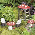 Mushroom Fairy Garden Furniture Set