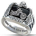 Ride Hard, Live Free Biker Ring