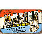 San Diego Marines Metal Sign