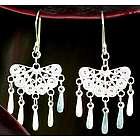 Emporer's Fan Sterling Silver Filigree Earrings