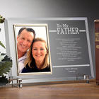To My Dad Engraved Picture Frame for Father