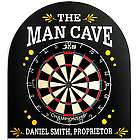 Personalized Man Cave Dart Board Gift Set
