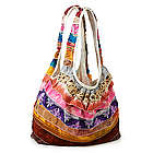 Ruffled Recycled Sari Bag