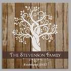 Personalized Family Tree Square Canvas Art Print
