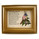 Baby Blessing Irish Framed Print