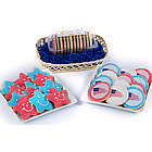 Patriotic Cookies Wicker Gift Basket