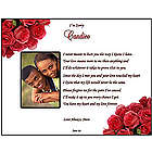 'Forgive Me' Personalized Love Poem Print