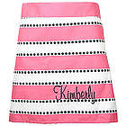 Personalized Pink Stripes A-Line Waist Apron