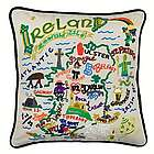 Hand Embroidered Ireland Pillow