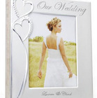 Personalized Crystal Studded Silver Wedding/Anniversary Album