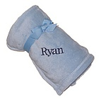 Personalized Plush Micro Fleece Baby Blanket
