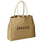 Eco Friendly Beach Jute Tote Handbag