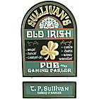 Handcrafted Old Irish Pub and Gaming Parlor Sign
