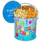 Happy Birthday Traditional Mix 1 Gallon Popcorn Tin