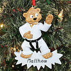 Personalized Karate Bear Ornament