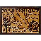 Martinique Map Leather Photo Album in Natural