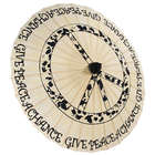 Hand Painted Peace Garden Paper Parasol