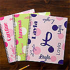 Personalized Girl's Notebooks