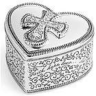 Expressions from the Heart Cross Topped Engravable Trinket Box