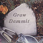 Garden Accent Stone - Grow Dammit