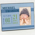 Baby's Big Day Personalized Frame For Boys