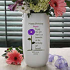 Birthday Blooms Personalized Ceramic Vase