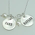 Personalized Hand Stamped Silver Necklace