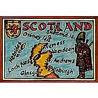 Scotland Map Leather Photo Album in Color