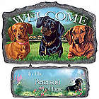 Lovable Dachshunds Personalized Welcome Sign Wall Decor