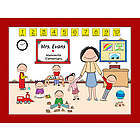 Personalized Day Care/Pre-School Teacher Cartoon