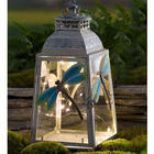 "Small 12"" Metal Dragonfly Lantern"