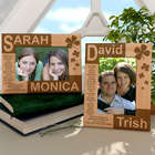 Personalized Lucky You and I Wooden Picture Frame