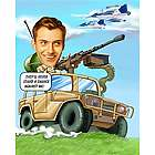 Army Caricature from Photos Art Print