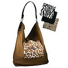 Monogrammed Canvas Safari Georgia Handbag