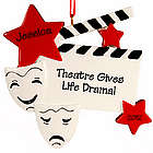 """Theatre Gives Life Drama!"" Personalized Christmas Ornament"