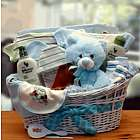 Blue Deluxe Organic Baby Gift Basket