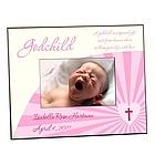 Pink Godchild Photo Frame