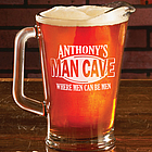 Personalized Man Cave Pitcher