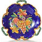 Italian Deruta Uva Fresca Fruit 3 Handle Platter