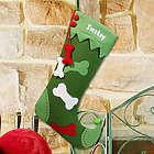 Embroidered Dog Christmas Stocking